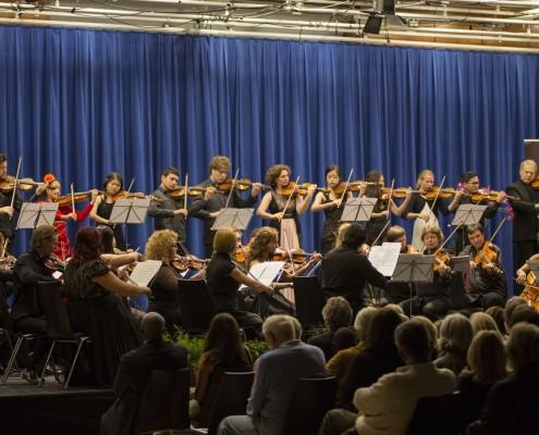 Shlomo Mintz and participants in Closing Concert