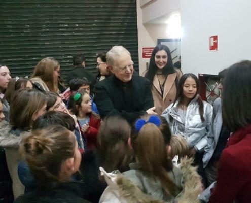 Shlomo Mintz meeting audience in Santander